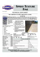 Spray Texture Fine TDS