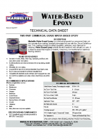 Water Based Epoxy TDS