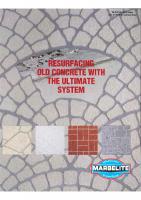 Resurfacing Old Concrete